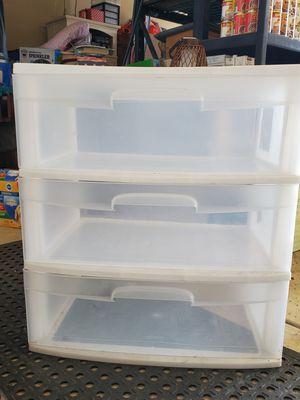 White plastic drawers for Sale in Stockton, CA