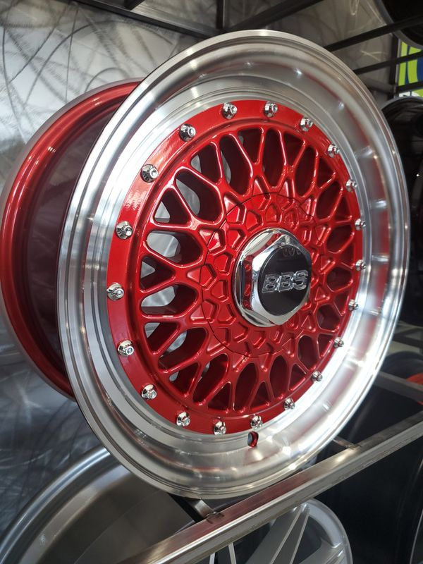 Red machine lip BBS RS rep wheels 15x7 et20 4x110 and ...
