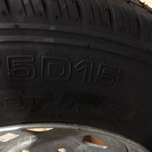 Trailer Tire Mounted On A Galvanized Rim for Sale in Parsippany-Troy Hills, NJ