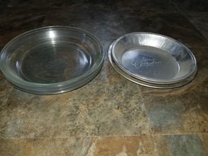 Glass and metal pie tins for Sale in Haverhill, MA