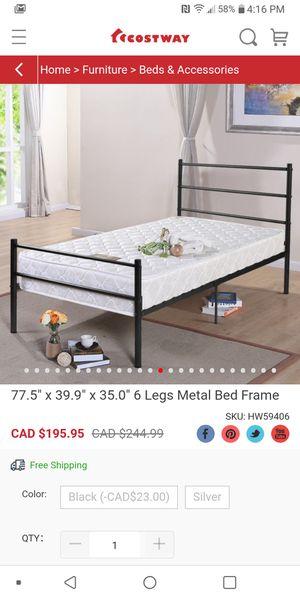 6 Legs Metal Bed Frame twin for Sale in Bakersfield, CA