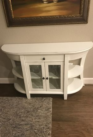 cabinet , solid wood, beveled glass 52 L 16 D 30 H for Sale in Spring, TX