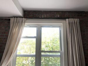 West Elm Linen curtains (pair) 48in x 96in for Sale in Brooklyn, NY