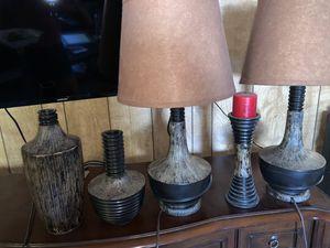 Ashley Furniture Bamboo Lamp Set Home decor for Sale in Flagstaff, AZ