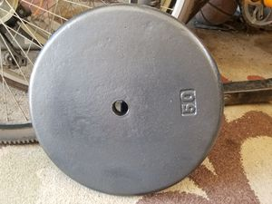 One Standard sized 50lb weight plate for Sale in Norwalk, CA