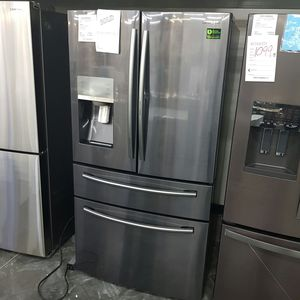 SAMSUNG Black Stainless Middle Drawer French 4doors Refrigerator for Sale in Ontario, CA