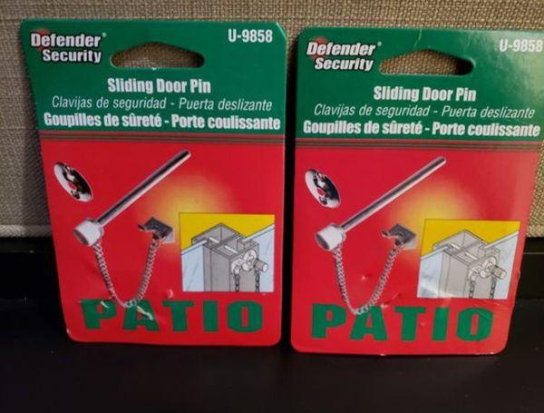Prime Line U - 9858 Sliding Door Pin Defender Patio Security (NIP) Pack of 2