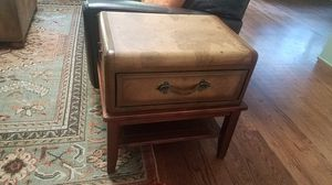 Old Wold Map Leather Coffee Table and Side Table for Sale in Woodstock, GA