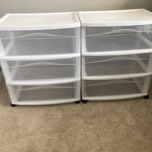 2 Set 3 Drawer Cart for Sale in Clearwater, FL