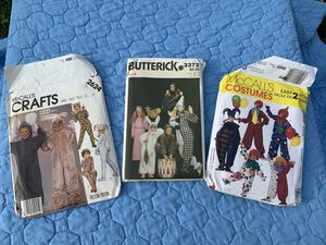 Lot of Vintage Halloween Costume Patterns 3 Total for Sale in Lowell, IN