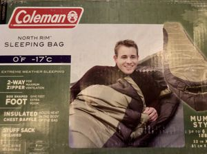 Coleman North rim sleeping bag for Sale in Avondale, AZ
