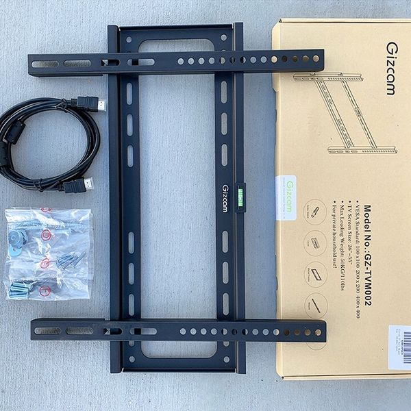 """(New In Box) $10 Fixed 26""""-55"""" TV Wall Mount Bracket Low Profile, Max 110Lbs (w/ 5ft HDMI Cable)"""