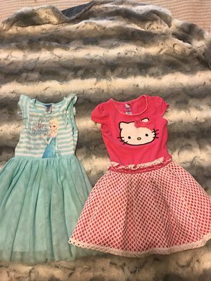 Size 5/6 dresses- Frozen and Hello Kitty for Sale in Charlotte, NC