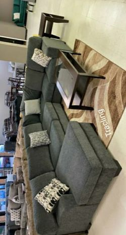 New Brand Ashley Tracling Slate Sectional for Sale in Alexandria,  VA
