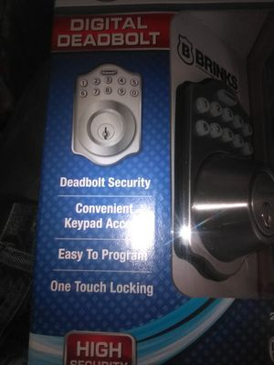 Brinks digital deadbolt lock for any door for Sale in Fresno, CA