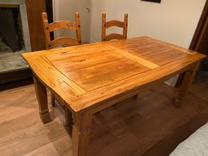 Pier 1 hardwood dining table + 4 chairs for Sale in Portland, OR