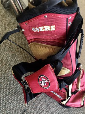 49ers NFL golf bag and clubs set (balls included) for Sale in Palmdale, CA