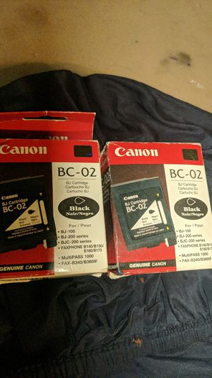 Canon BC-02 black printer ink for Sale in Portland, OR