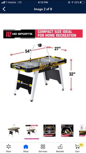 """MD Sports 54"""" Air Hockey Table, Overhead Electronic Scorer, Black/Yellow for Sale in Los Angeles, CA"""