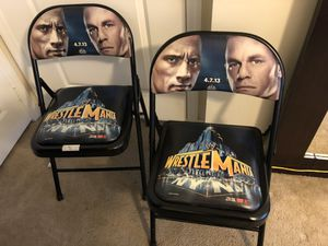 2 WWE Wrestlemania 29 NY/NJ Ringside Event Chair 4/7/13 for Sale in Lighthouse Point, FL