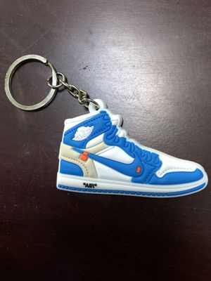 Jordan 1 Keychain Shoe Retro North Carolina Off White for Sale in Millville, NJ