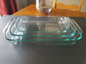 PYREX GLASS BAKEWARE SET OF 3 for Sale in Covina, CA