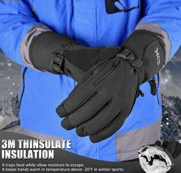 Medium Waterproof Black Ski Gloves for Sale in Littlerock,  CA