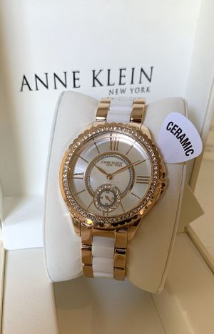 Anne Klein New York Two-Tone Ladies Watch With White Ceramic Center Links for Sale in Flower Mound, TX