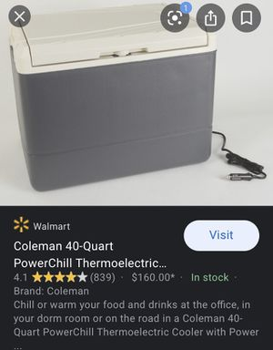 Coleman 40 qt PowerChill plug in cooler for Sale in Berea, OH