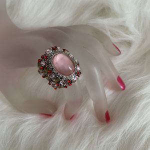 NWOT simulated pink cabochon cocktail ring for Sale in Freeland, PA