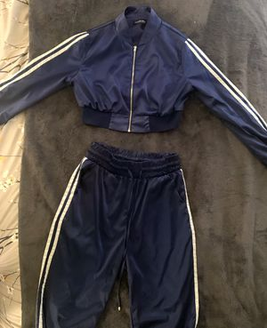 Fashion nova Navy Blue track suit set for Sale in Richmond, CA