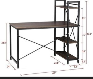 "New item tower computer desk 4 tier shelves -47.6""multi level writing table for Sale in Auburn, WA"