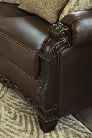 Black Friday 💣Embrook Chocolate Leather Living Room Set for Sale in Jessup, MD