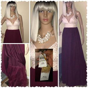 Beige & Burgundy Gown for Sale in Stone Mountain, GA