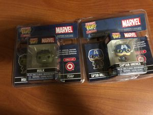 Pocket pop hulk and captain America for Sale in Hacienda Heights, CA
