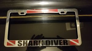 SCUBA Shark Diver Plate Frame for Sale in Tarpon Springs, FL