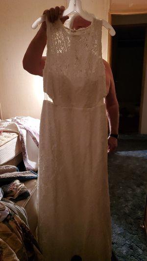 Wedding dress and veil , new never worn dress size 16 w for Sale in Punta Gorda, FL