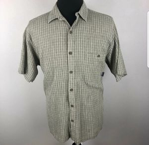 Patagonia Vintage Organic Cotton Green Short Sleeve Button Down Shirt Men's L for Sale in Salem, OR