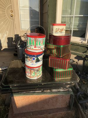 Christmas tins new 8 of them $5 for Sale in Palmdale, CA