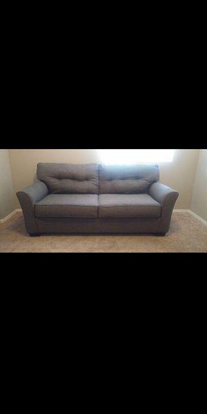 Loveseat sofa couch gray plush for Sale in Phoenix, AZ