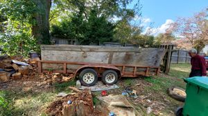 20 by 7 trailer. Needs new wood. Solid frame. Will trade for smaller one for Sale in Tucker, GA