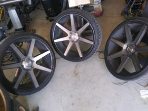 24 inch dub rims for Sale in Arvin, CA