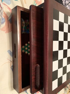 Wooden Board Game Set Checkers Chess Tic Tac Toe Mancala Chinese Checkers & more! for Sale in Centreville, VA