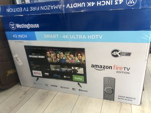 """Westinghouse Amazon fire tv 43"""" 4K smart for Sale in Los Angeles, CA"""