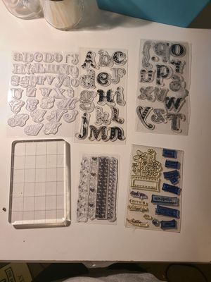 Clear stamps and acrylic block for Sale in BETHEL, WA