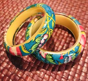 Resin beautiful flowered bangles, 2 for Sale in Silver Spring, MD