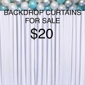 🖤🤍BACKDROP CURTAINS FOR SALE 🤍🖤 for Sale in Ontario, CA