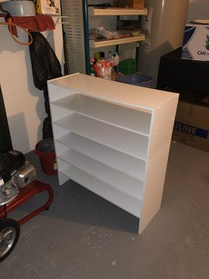 White Stackable Shoe Racks (3x) for Sale in Miami, FL