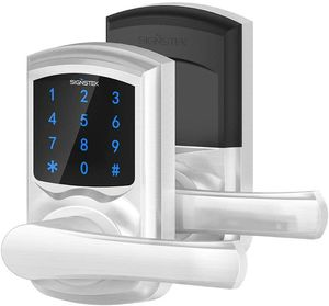 Signstek Digital Electronic Touchscreen Keypad Security Entry Door Lock for Left or Right Door Handle with Hidden Mechanical Key — Silver for Sale in Chatsworth, CA