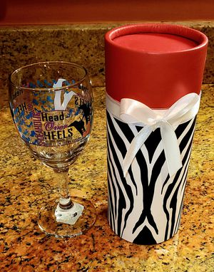 Shoeaholic Head Over Heels 8-oz Stemmed Wine Glass with Decorative Gift Box.  A fun and unique wine glass...Cheers! for Sale in Woodbridge, VA